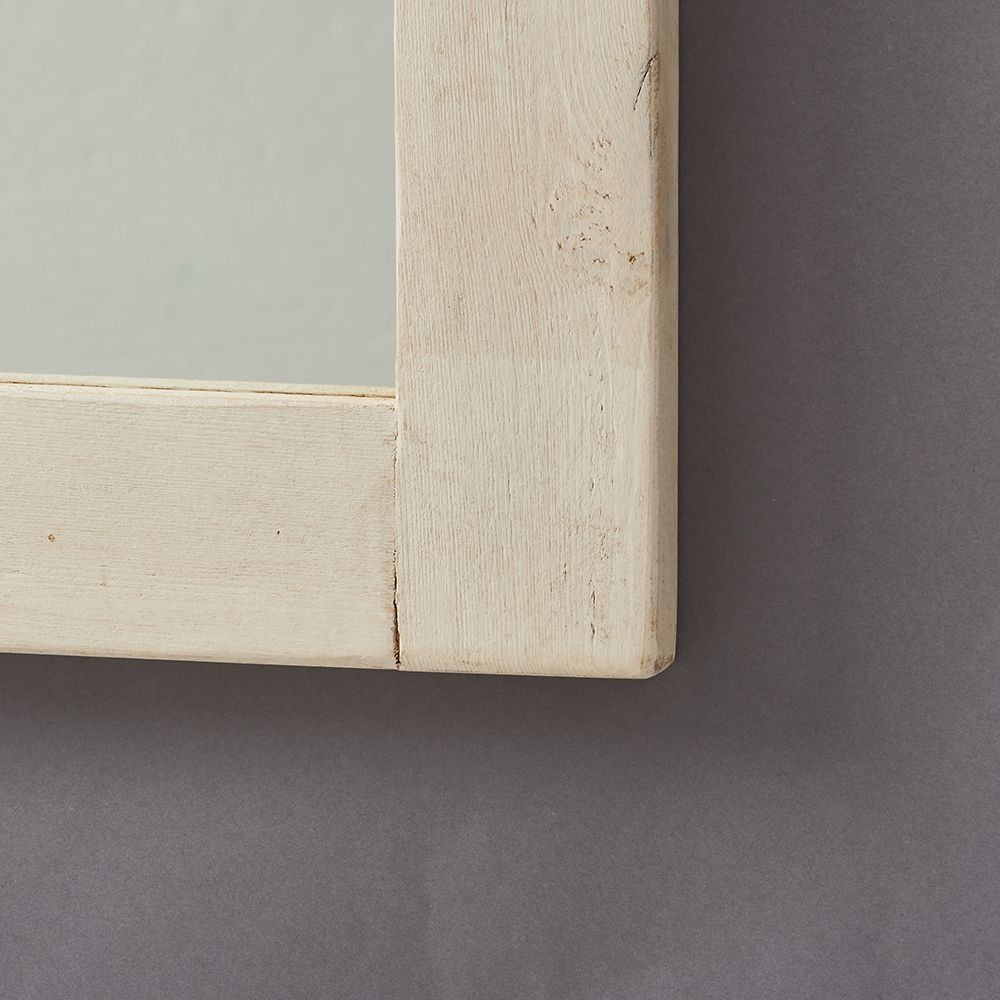 Chunky White Old Wood Framed Mirrors